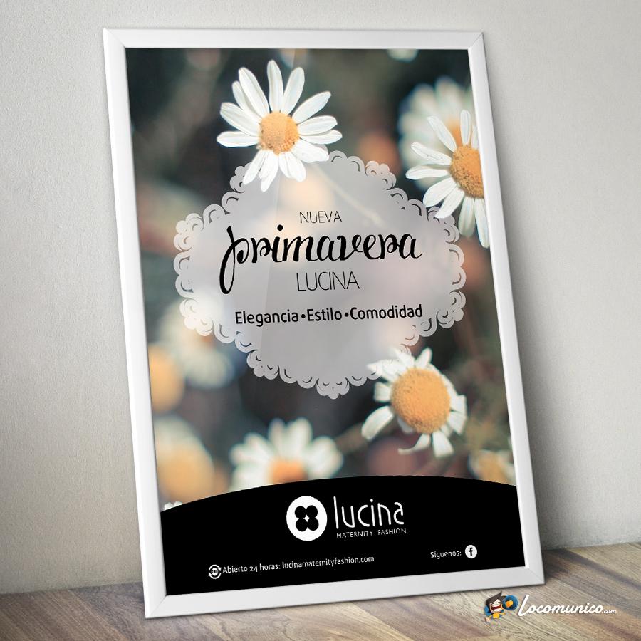 Cartel de Campaña de Primavera para tiendas de ropa premamá.