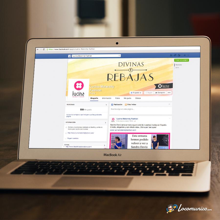 Portada de Facebook de Campaña de Rebajas para tiendas de ropa premamá.