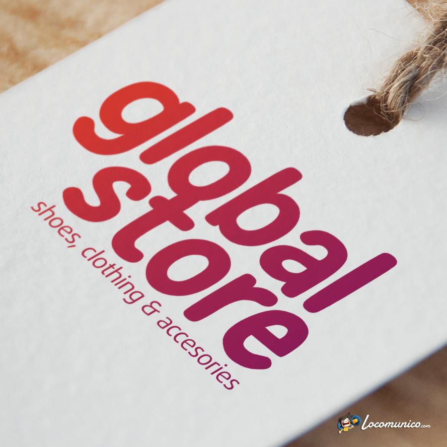 Diseño de logotipo para tienda de zapatos, moda y complementos.