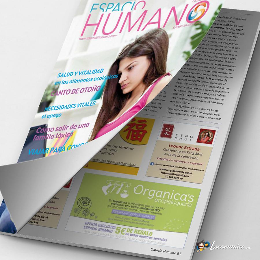 Anuncio en revista especializada para ecopeluquería.