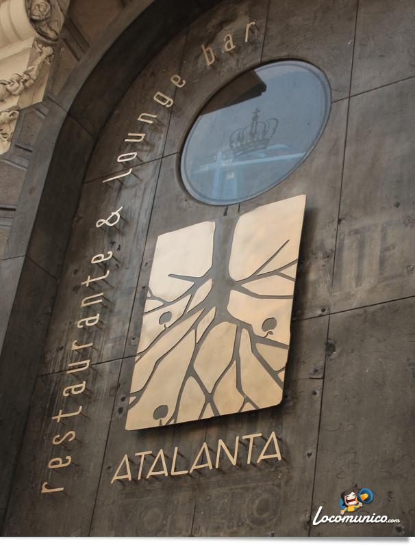 Rótulo del restaurante Atalanta