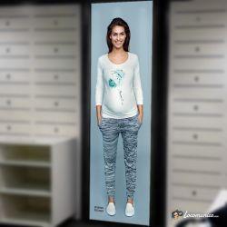 Diseño e impresión de cartel para Lucina Maternity Fashion.