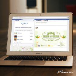 Diseño de publicidad en Facebook para comunicar un curso profesional de Organica's Ecopeluquería.