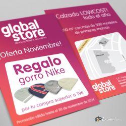 Diseño e impresión de folletos de Promoción de Noviembre para Global Store