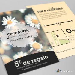 Diseño e impresión de folletos de la Campaña de Primavera para Lucina Maternity Fashion.