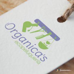 Diseño de logotipo para Organica's Ecopeluquería.
