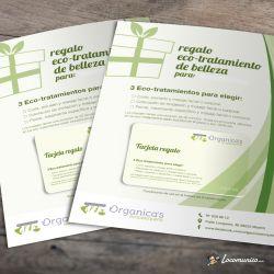 Diseño e impresión de Tarjetas regalo para Ecopeluquería