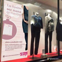 Diseño e impresión de vinilo de la Campaña de Navidad para Lucina Maternity Fashion.